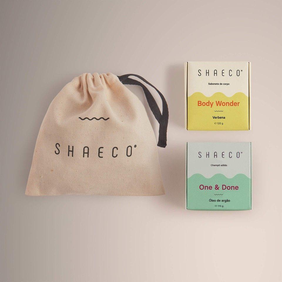 Shampoo Bar + Body Soap + Cotton Bag