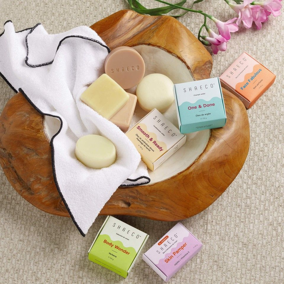 Solid Shampoo + Solid Conditioner + Face Cleansing Bar + Body Soap + Body Moisturizing Bar